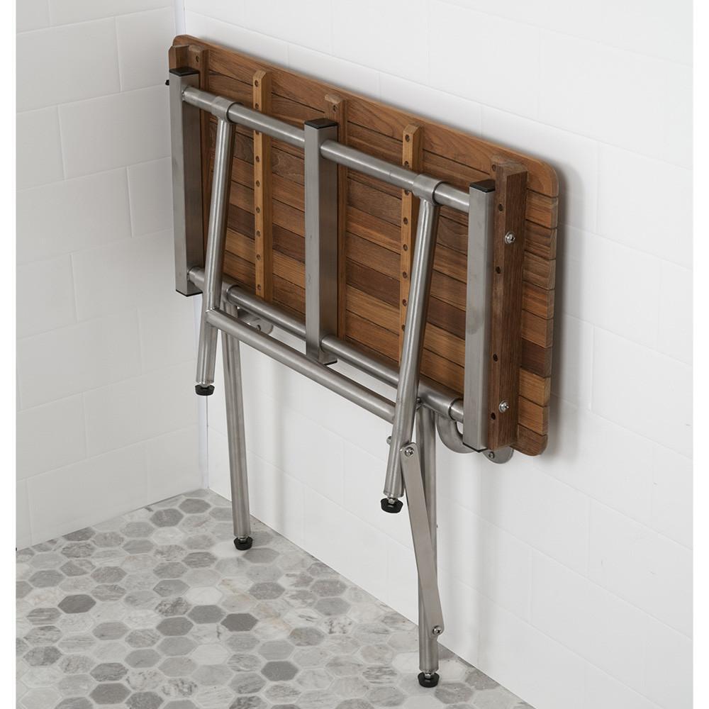 best seller TBF-280160W standard ADA teak bench folded