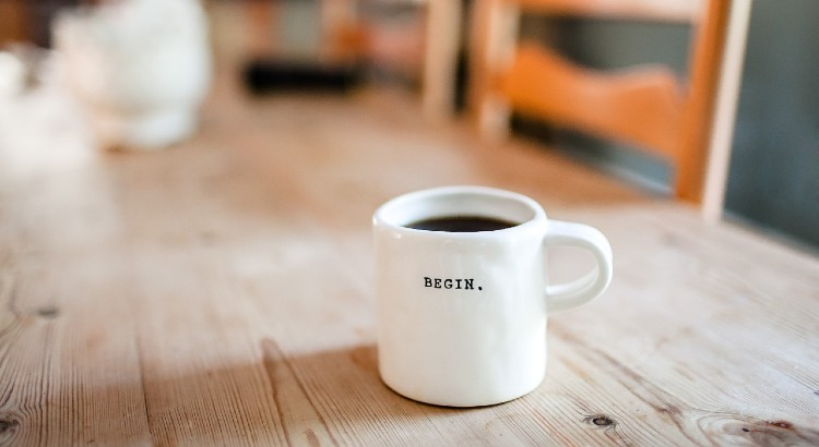 coffee cup begin day simple