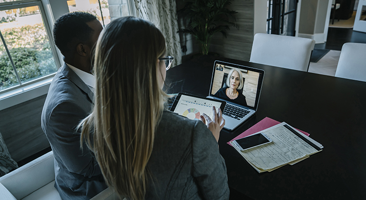 video conference used to get advice