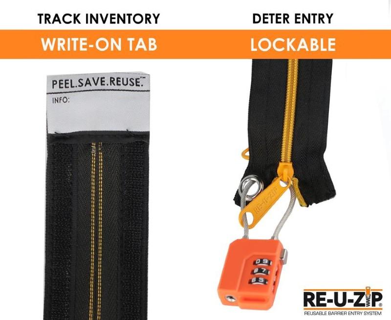 RE-U-ZIP-dust-control-zipper-system-lockable-write-on-tab